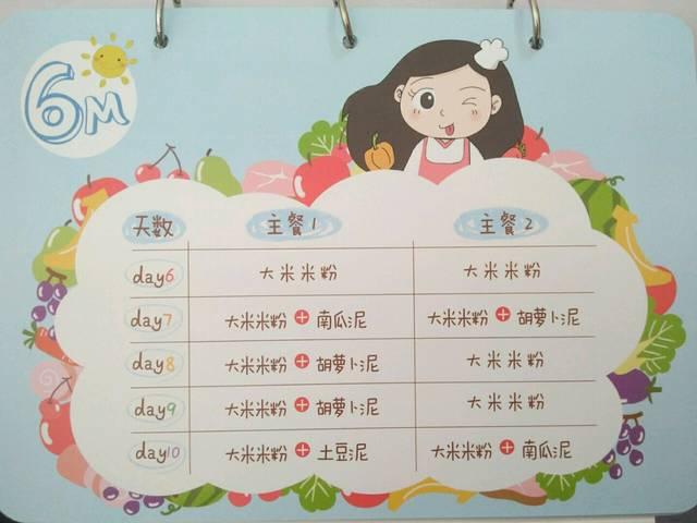 【免费】6月龄宝宝每日辅食清单,请收藏_请关
