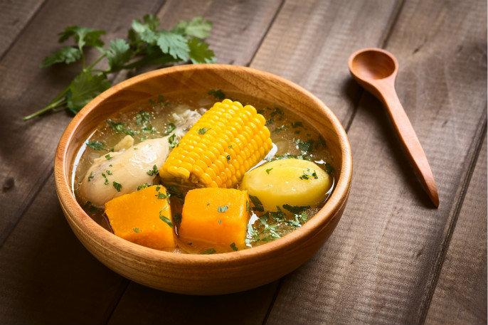 土豆鲜蘑玉米汤
